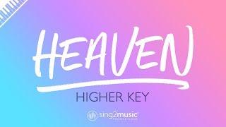 Heaven (Higher Key - Piano Karaoke Instrumental) Avicii