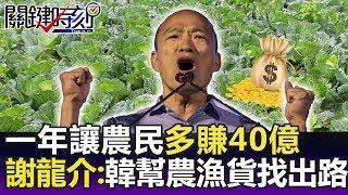 一年讓農民多賺40億 謝龍介:韓國瑜才當選已開始幫農漁或找出路!- 關鍵精華