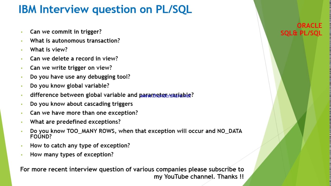 IBM Interview Questions And Answers Part 2