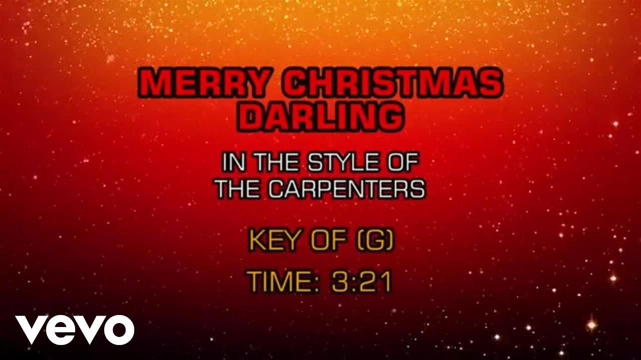 carpenters merry christmas darling karaoke