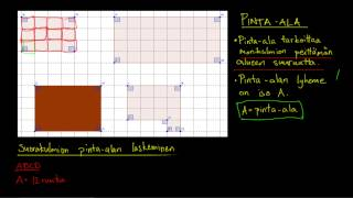 Geometriaa: Pinta-ala ja sen laskeminen ruuduissa