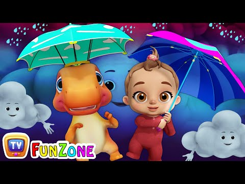 Rain Rain Go Away | Baby Songs & Dinosaur Rhymes for Kids | ChuChu TV Funzone 3D Nursery Rhymes