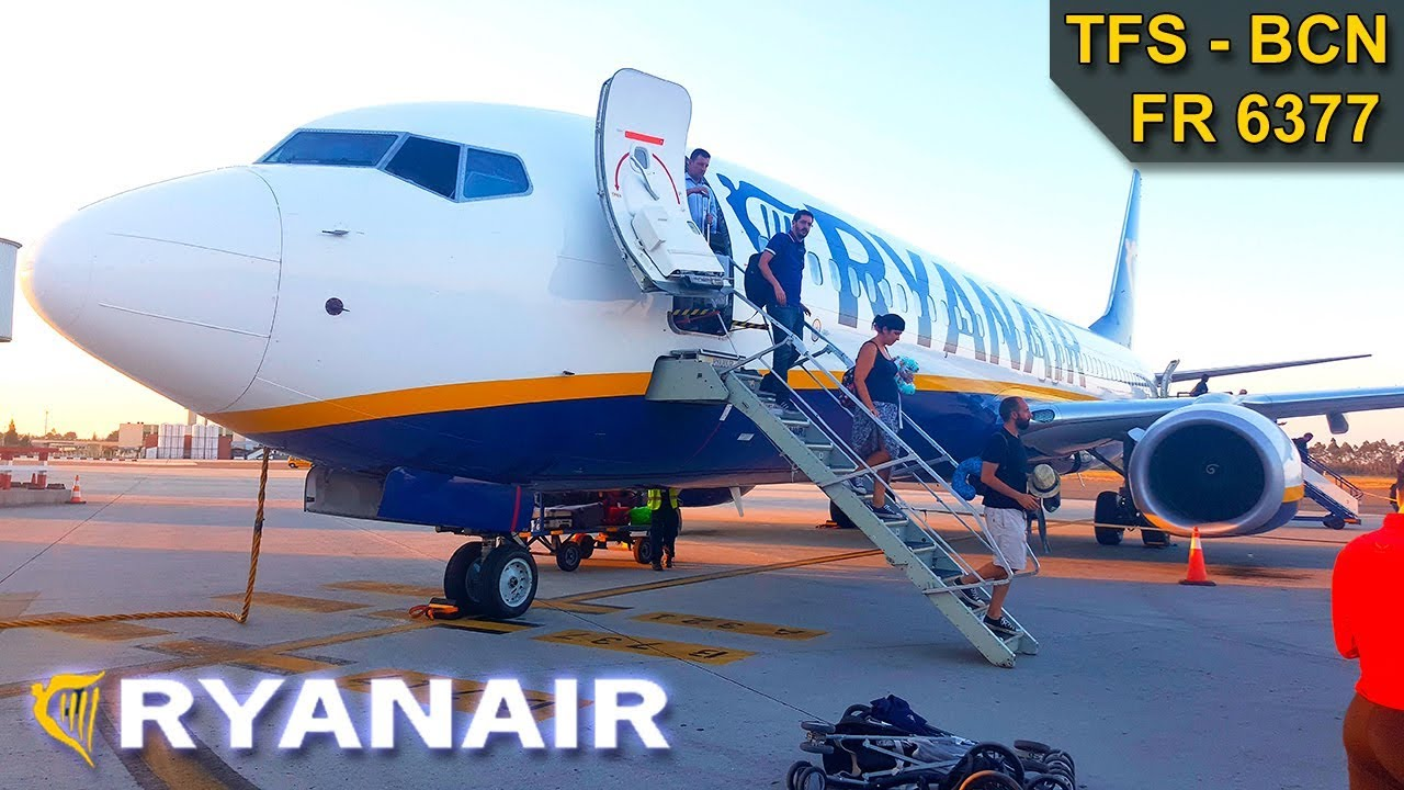 TRIP REPORT | Ryanair | TENERIFE SOUTH - BARCELONA ...
