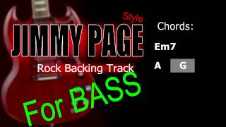 Rock BASS Jimmy Page Style Backing Track 86 Bpm Highest Quality
