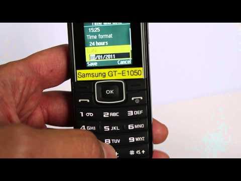 Samsung E1050 時間と日付設定