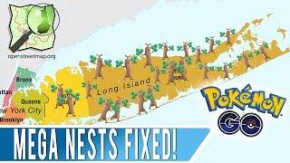 Mega Nest Behavior Fixed in Pokemon GO! Long Island New York and Berlin Mega Nests Reverted in OSM!
