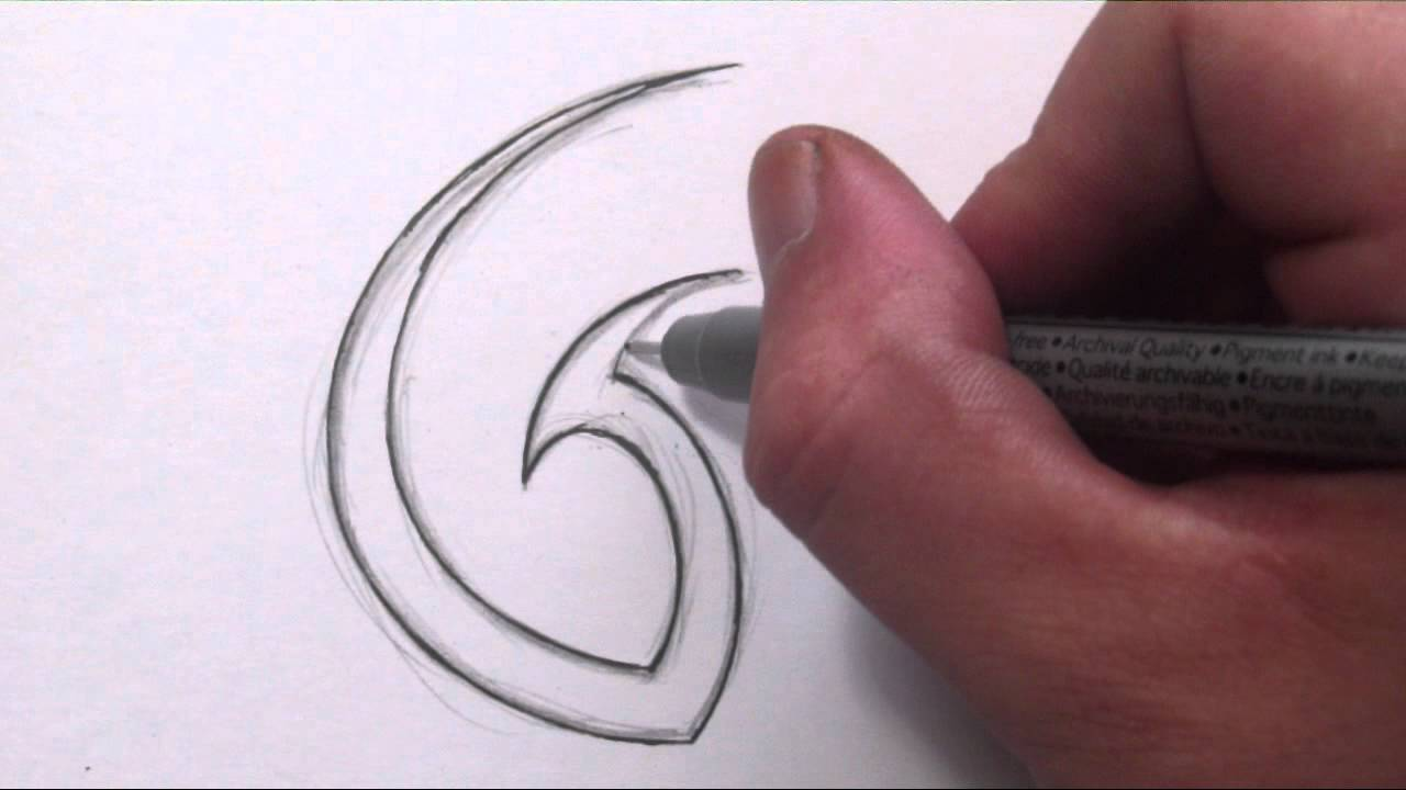 how to draw a simple tribal letter g youtube. Black Bedroom Furniture Sets. Home Design Ideas