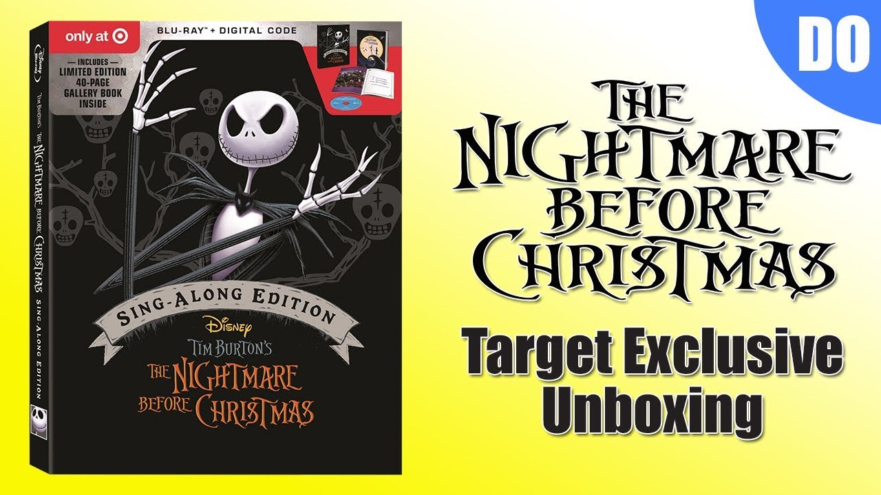 Nightmare Before Christmas 25th Anniversary Target Exclusive Blu ray ...