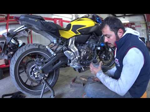 YAMAHA MT 07 EL YAPIMI EGZOZ (HAND MADE EXHAUST FOR MT 07)