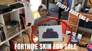 BUYING MY FAN A PURPLE XBOX ONE S FORTNITE EDITION!! SELLING A PURPLE FORTNITE SKIN ,VBUCKS, SHOES