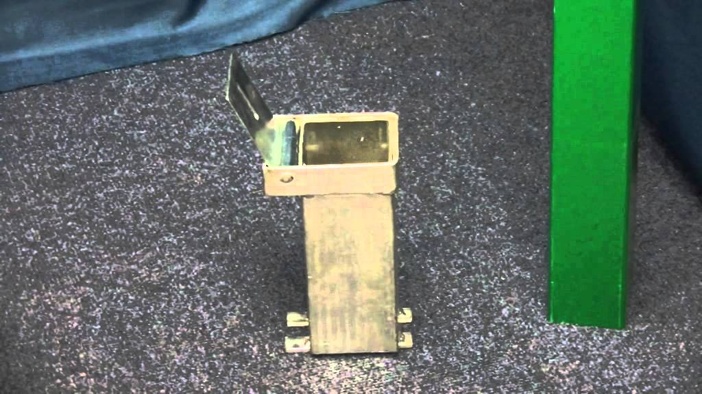 Green 100p Removable Security Parking Posts Video From