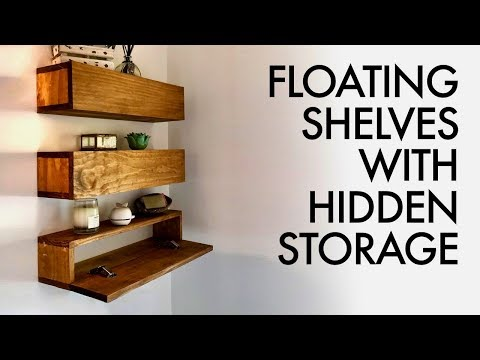 diy-floating-shelves-with-hidden-storage-//-how-to---woodworking