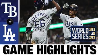 Lowe homers twice, Rays take World Series Game 2 to even series | Rays-Dodgers Game 2 Highlights