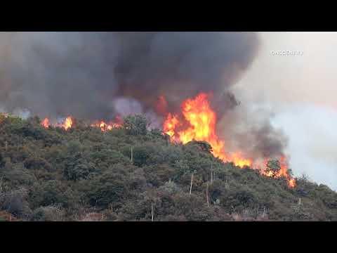 El Dorado Fire Grows As Investigators Believe It Is Human Caused
