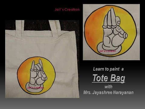 Learn to paint a TOTE Bag_Summer Special_Fabric Painting