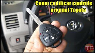 Como programar controle do alarme original Toyota