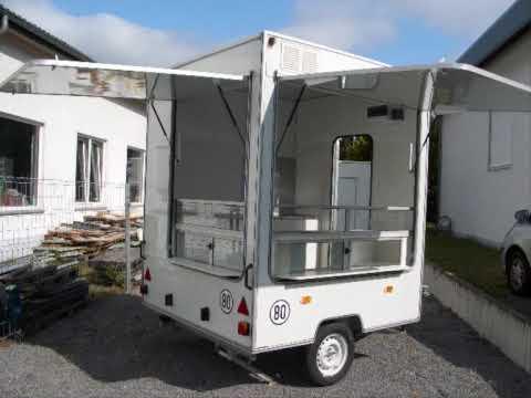 Imbiss Selber Bauen verkaufsanhänger imbissanhänger fastfood trailer 2m