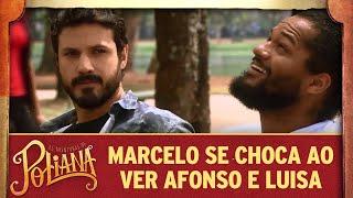 Marcelo se choca ao ver Afonso e Luisa   As Aventuras de Poliana