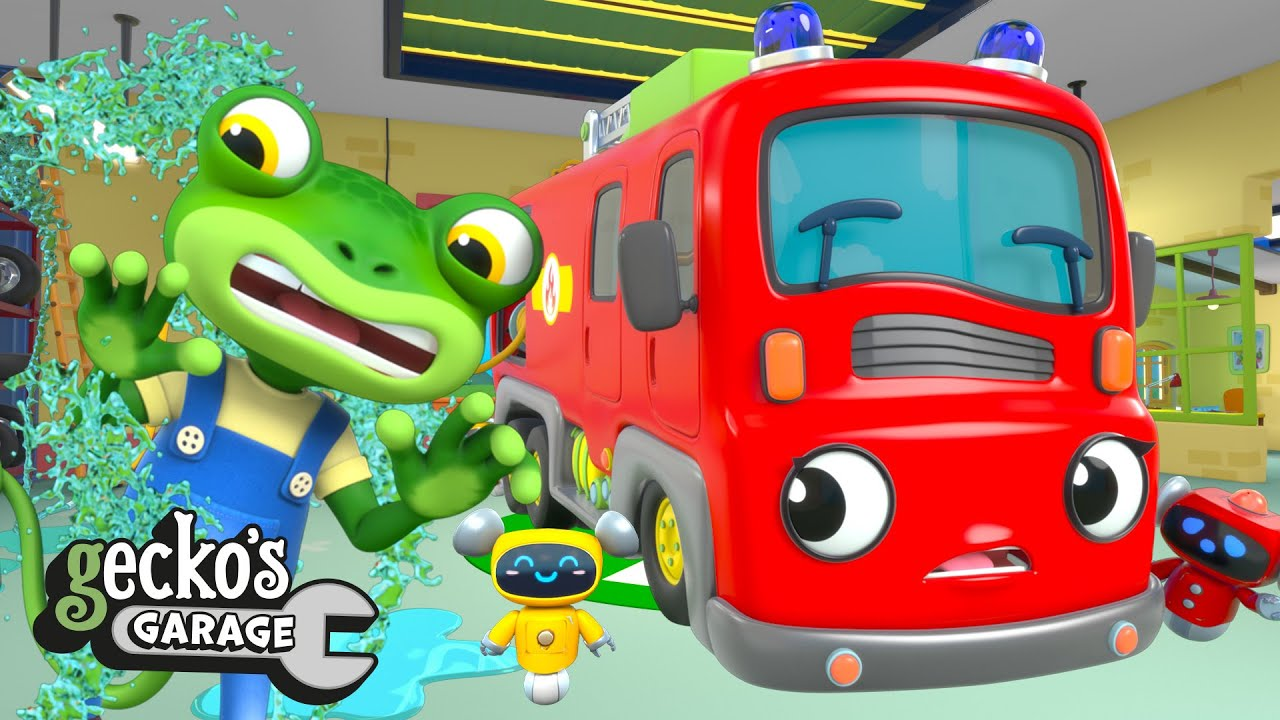 Fire Truck Fun BRAND NEW Gecko's Garage Funny Cartoon For Kids Toddler Fun Learning Fiona Fire Truck
