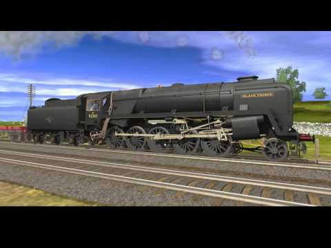 BR Standard 9F Black Prince on heavy freight: Highland Valley Railway (old route)