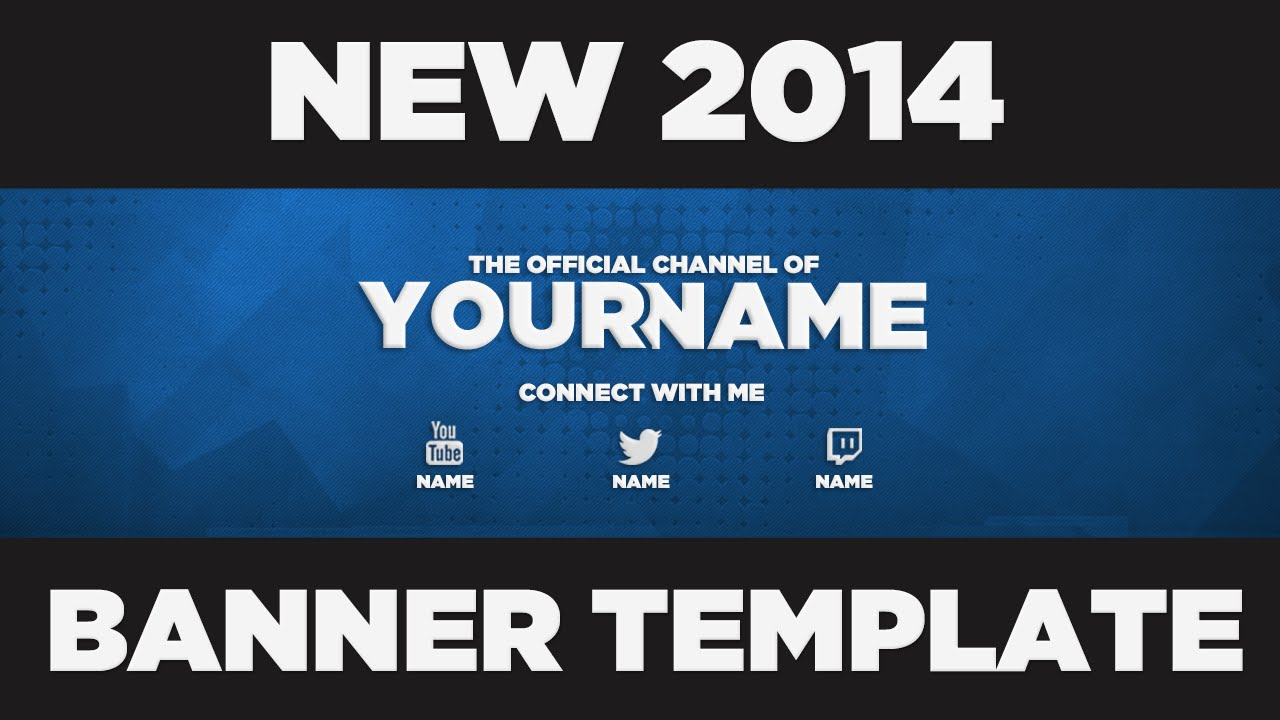 free banner template new 2015 youtube