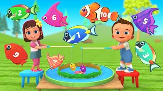 Learning Numbers with Magnet Fishes Numbers Toy Set - Little Baby Boy & Girl | 3D Education Cartoons