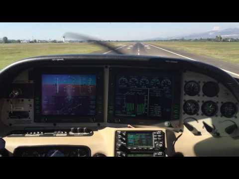 Landing in Tirana Airport (LATI) RWY36, Cirrus SR20 G2