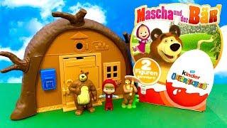 Masha and the Bear KINDER SURPRISE  huevo sorpresa | i Niedzwiedz Jajko niespodzianka