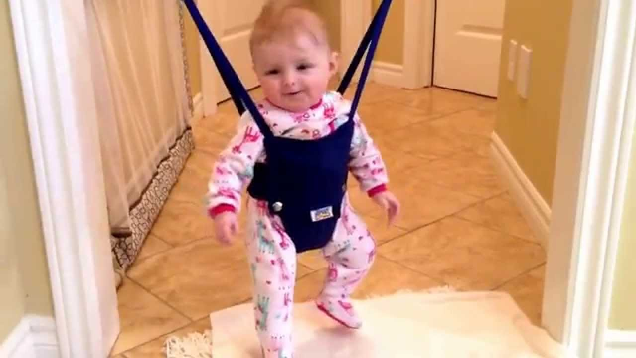 cc0e92b25 Our 3 month old enjoying her jolly jumper! - YouTube