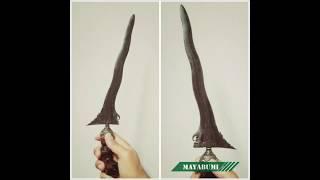 Keris Minangkabau Keris Palembang Keris Sumatra Langka Luk 5 Gonjo Sairas Handle Jawa Demam Selut Perak Sertifikasi Museum Pusaka TMII