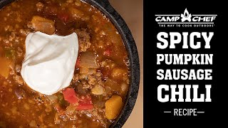 Spicy Pumpkin Sausage Chili Recipe   Camp Chef