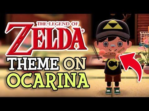 Playing LEGEND OF ZELDA Theme on OCARINA in Animal Crossing New Horizons