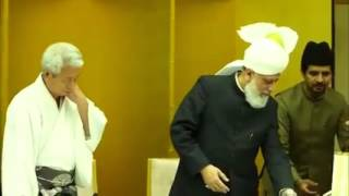 His Holiness Khalifatul Masih V visited the Meiji Shrine in Tokyo Japan tour