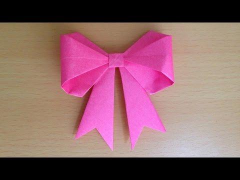 折り紙の 折り紙のリボンの作り方 : youtube.com