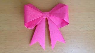 折り紙 リボン 立体 折り方 Origami bow 3D thumbnail