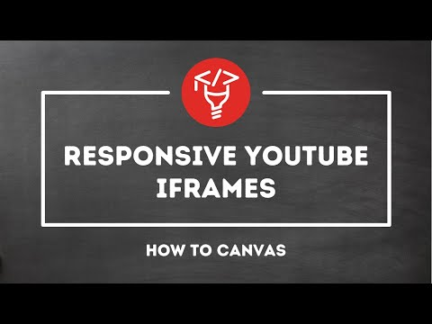 Responsive YouTube iframes in Canvas