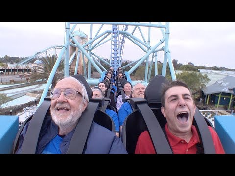 Reporter takes on ELECTRIC EEL roller coaster at Sea World San Diego