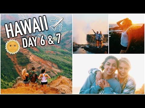 Traveling to Kauai, Waterfalls, Hikes, & Bonfires! HAWAII DAY 6 & 7!