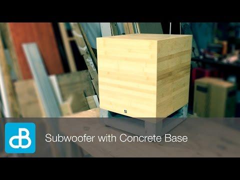 Subwoofer Build with Concrete Base - by SoundBlab