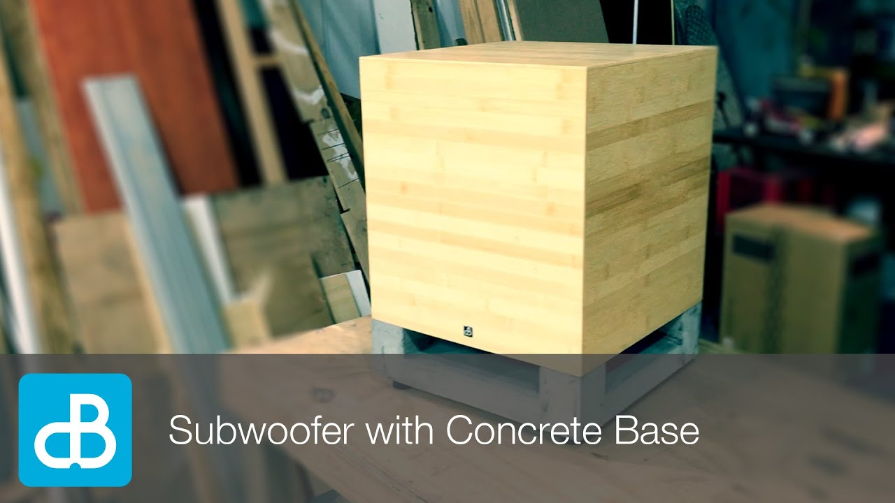 Subwoofer Build With Concrete Base By Soundblab Youtube