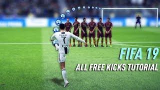 FIFA 19 ALL FREE KICKS TUTORIAL (TRIVELA, RABONA, KNUCKLEBALL, DRIVEN)