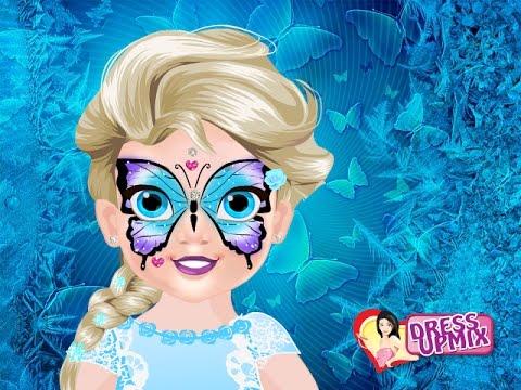 frozen elsa face painting games youtube
