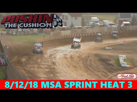 Angell Park Speedway - 8/12/18 - MSA Sprints - Heat 3