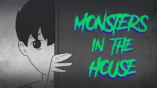 Scary story | 2 short scary stories | Monsters In The House ( Animated In Hindi ) ||Bitshow Story||