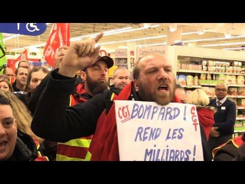 Carrefour: rassemblement contre le plan de transformation