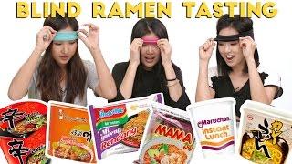 Blind INSTANT RAMEN Taste Test Challenge