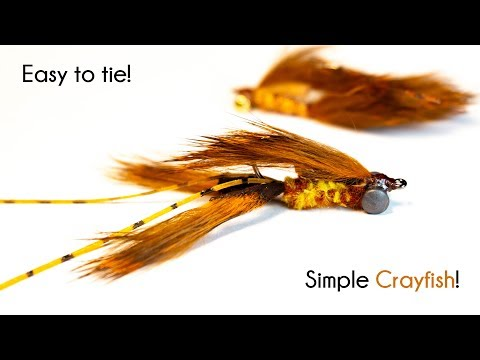Simple Crayfish - With Rabbit Zonkers - McFly Angler Fly Tying Tutorials