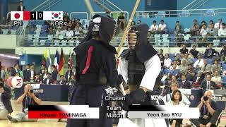 17th World Kendo Championships Women's TEAM Japan vs Korea