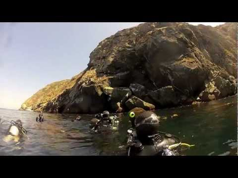 Boat Diving Eagles Nest Catalina 8-18-12