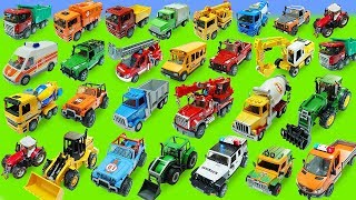 Police Cars, Garbage Truck, Ambulance Toys Unboxing